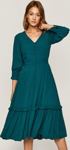 Sukienka Medicine z tkaniny z dekoltem w kształcie litery v midi