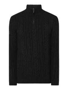 Czarny sweter Superdry w stylu casual z wełny