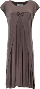 Brązowa sukienka POTIS & VERSO z tkaniny