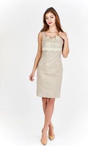 Sukienka Fokus ołówkowa mini bez rękawów