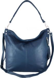 Niebieska torebka TrendyTorebki ze skóry