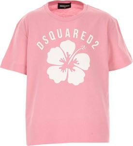 Różowa bluzka dziecięca Dsquared2