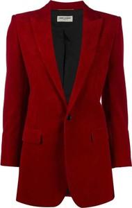 Czerwona kurtka SAINT LAURENT z jedwabiu