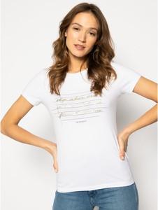 T-shirt Trussardi Jeans w młodzieżowym stylu z okrągłym dekoltem