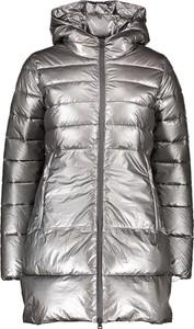 Srebrny płaszcz Champion w stylu casual
