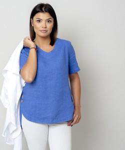 Niebieska bluzka Willsoor z krótkim rękawem