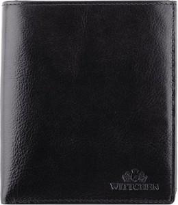 Czarny portfel męski Wittchen na bilon