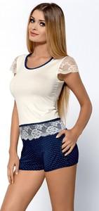 T-shirt Hamana z okrągłym dekoltem w stylu casual z krótkim rękawem