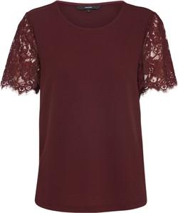 Bordowy t-shirt Vero Moda