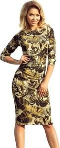 Sukienka NUMOCO z okrągłym dekoltem ołówkowa midi