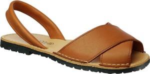 Sandały El Pimpi z płaską podeszwą ze skóry