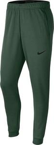 Zielone spodnie sportowe Nike z dresówki w sportowym stylu