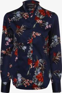 Granatowa koszula Franco Callegari w stylu casual z kołnierzykiem