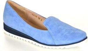 Oleksy 1962/b83/000 niebieski półbuty damskie