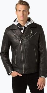 Czarna kurtka Finshley & Harding w rockowym stylu