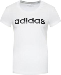T-shirt Adidas z bawełny z okrągłym dekoltem
