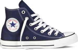 Niebieskie trampki Converse w stylu casual wysokie sznurowane