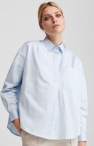 Koszula Reserved z kołnierzykiem z bawełny