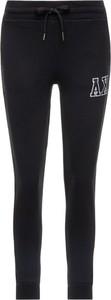 Czarne spodnie sportowe Armani Jeans z dresówki