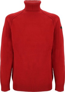 Czerwony sweter Rrd z golfem