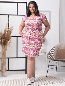 Sukienka KARKO z krótkim rękawem z dresówki