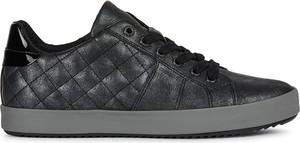Buty sportowe Geox sznurowane ze skóry ekologicznej z płaską podeszwą