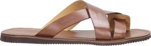 Brązowe buty letnie męskie Wojas