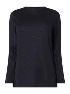 Granatowa bluzka Samoon z długim rękawem w stylu casual