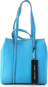 e1ad22d33ad63 Niebieska torebka Marc Jacobs w stylu casual ze skóry duża