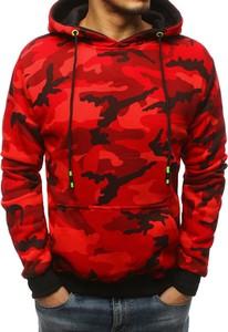 Czerwona bluza Dstreet z bawełny w młodzieżowym stylu