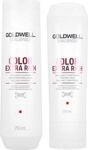 Goldwell Color Extra Rich | Zestaw do włosów farbowanych: szampon 250ml + odżywka 200ml - Wysyłka w 24H!