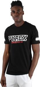 Czarny t-shirt Pyrex z krótkim rękawem w młodzieżowym stylu