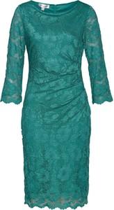 Zielona sukienka bonprix z długim rękawem