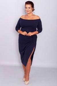 Sukienka KARKO z długim rękawem dla puszystych