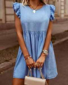 Sukienka Kendallme z dekoltem w kształcie litery v mini z krótkim rękawem