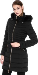 Czarny płaszcz Tommy Hilfiger w stylu casual