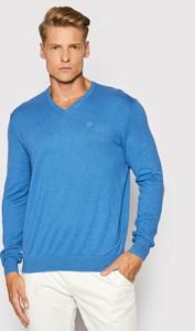 Niebieski sweter Bugatti w stylu casual