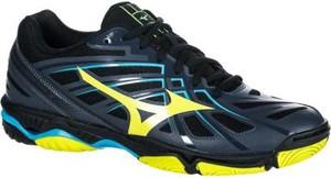 Granatowe buty sportowe Mizuno sznurowane