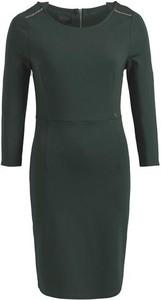 Zielona sukienka khujo mini z dżerseju