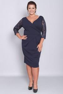 Sukienka KARKO z długim rękawem z tkaniny ołówkowa