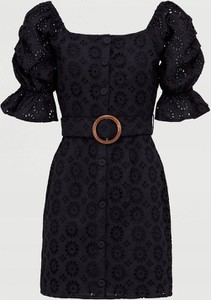 Czarna sukienka V by Very z bawełny