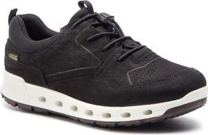 Brązowe buty sportowe Ecco z nubuku w sportowym stylu