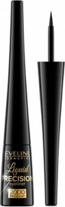 Eveline, Liquid Precision 2000 Procent Eyeliner, liner w pędzelku, Black, 4 ml