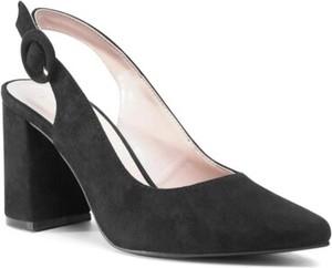 Czarne sandały Jenny Fairy z zamszu