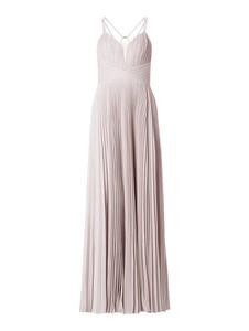 Różowa sukienka Mascara maxi z dekoltem w kształcie litery v