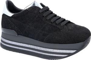 Buty sportowe Hogan sznurowane ze skóry