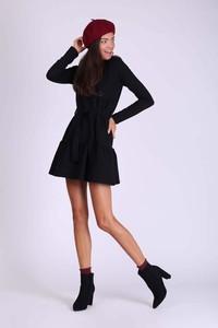 Czarna sukienka Nommo z bawełny w stylu casual