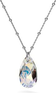 GIORRE ZŁOCONY NASZYJNIK Z KRYSZTAŁEM SWAROVSKIEGO - MIGDAŁ : Kolor kryształu SWAROVSKI - Crystal AB, Kolor pokrycia srebra - Pokrycie Czarnym Rodem