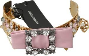 Dolce & Gabbana Bow Collar Naszyjnik kryształowe zdobione