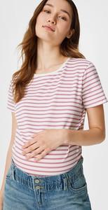 YESSICA C&A Zestaw-T-shirt i top ciążowy-3 części-bawełna bio, Niebieski, Rozmiar: XS